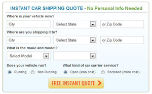 Car Shipping Rate Calculator