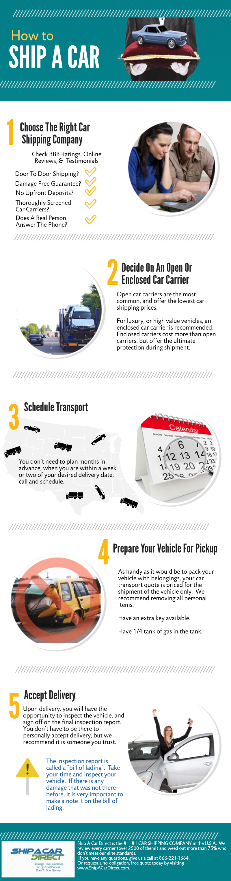 Infographic Explains How To Ship A Car In 5 Easy Steps