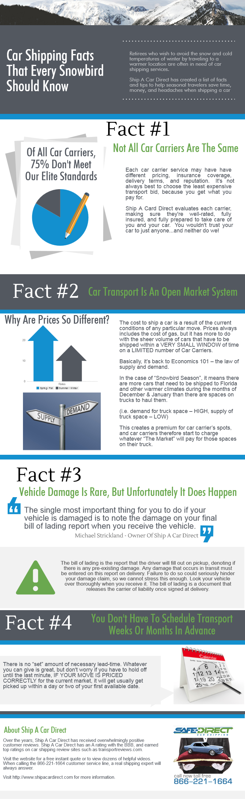 Snowbird Car Shipping Facts